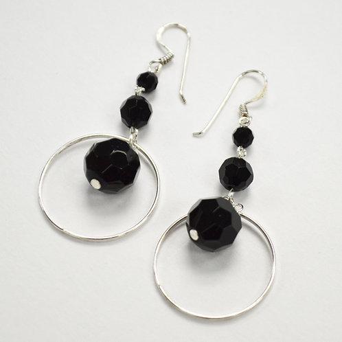 Crystal Stones Sterling Silver Earrings 534082-2