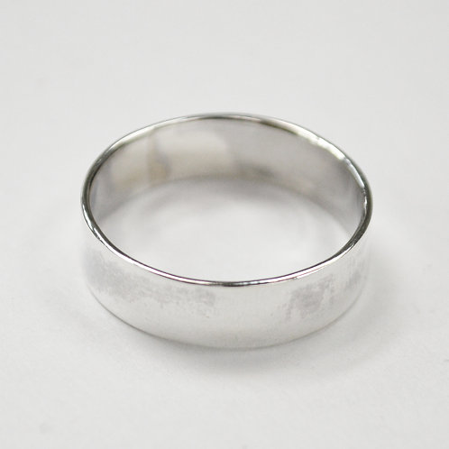 Flat Plain Band Ring Sterling Silver 511562