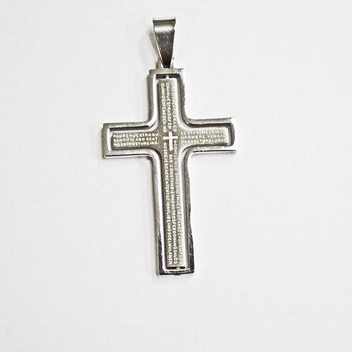 """Padre Nuestro"" Cross Pendant(25x41mm)"