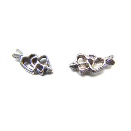 Double Heart with Arrow Stud Earring