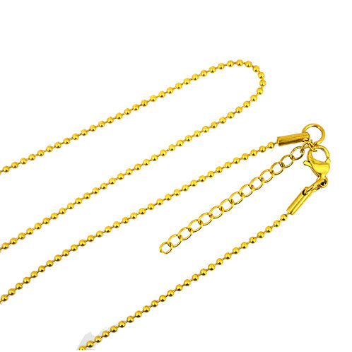 1.5mm Bead Gold Plated Adjustable