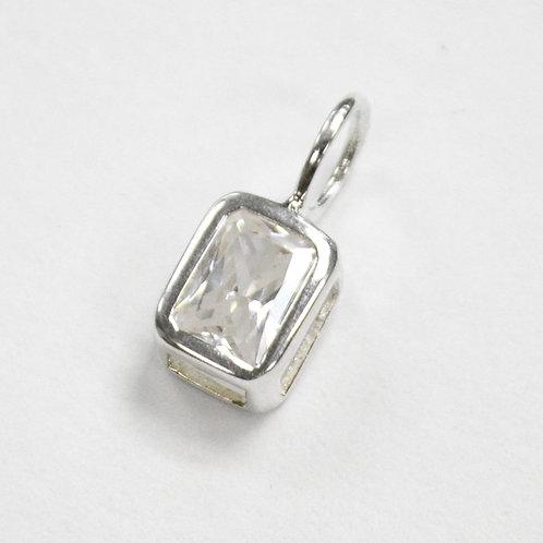 CZ Stone Pendant Sterling Silver 562041