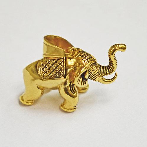Elephant Gold IP Plate Pendant 86-1645G