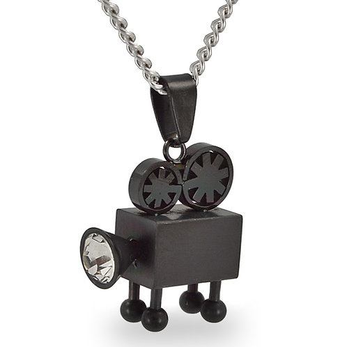 Projector Black Plated Pendant 86-1253