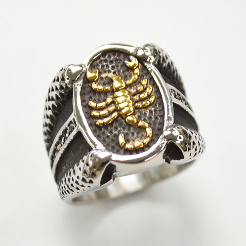 Scorpion 2 Tone Gold  Ring  81-1211-2T