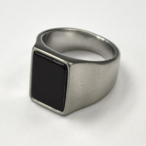 Black Stone Matte Finished  Ring 81-1180S