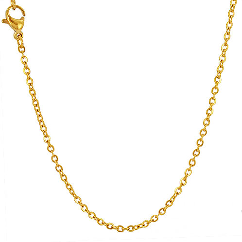 2m Flat anchor Gold IP Plate Chain