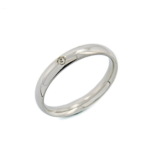 Plain Band with CZ Ring (3mm) 81-690-3