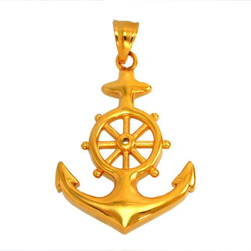 Gold Anchor Pendant 86-1229G