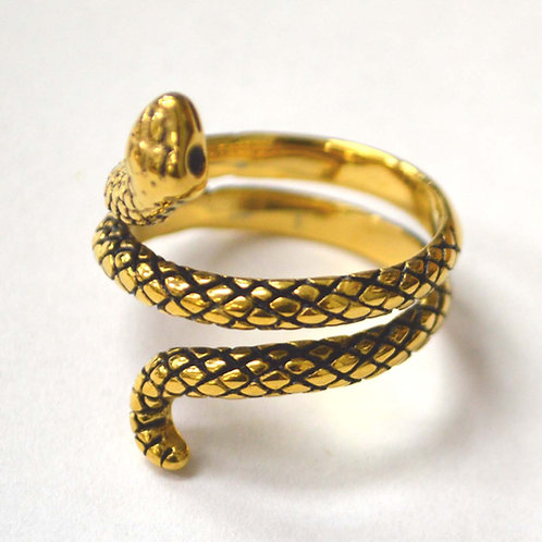 Snake Gold IP Plated Ring 81-1339G-1