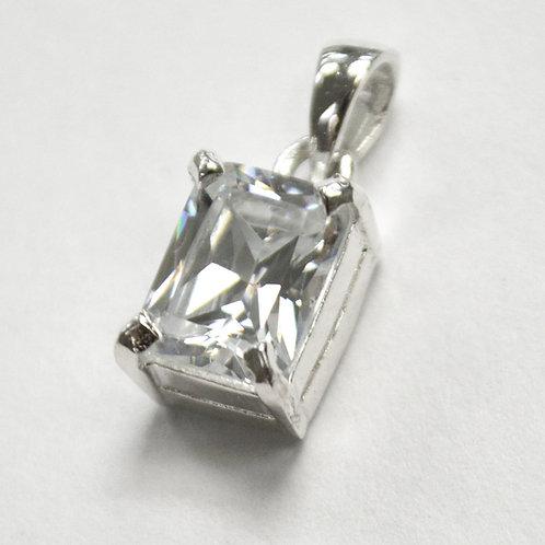 CZ Stone Pendant Sterling Silver 562004