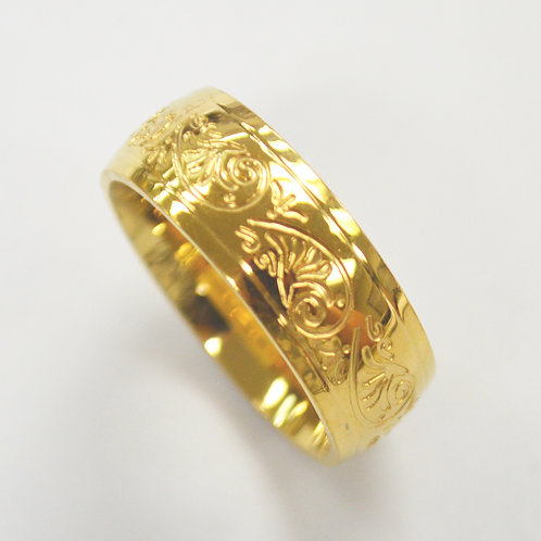 Decorative Gold IP Plated Ring  81-1402G