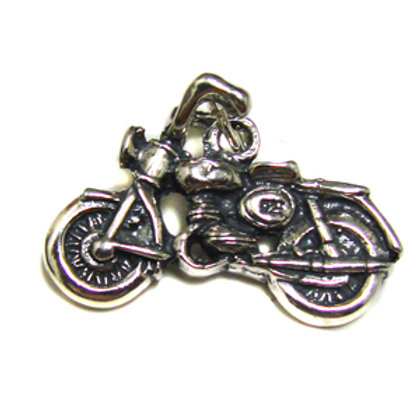 Motorcycle Pendant Sterling Silver 561154