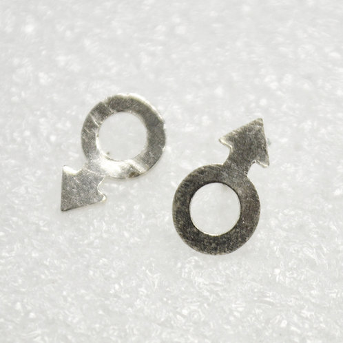 Male Symbol Stud Earring 535122