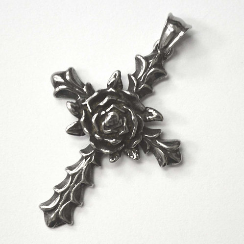Cross with Rose Pendant 86-2382