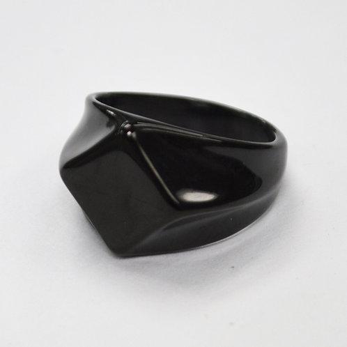 BLACK PLATED RING 81-1106B