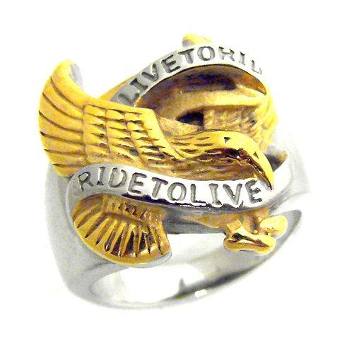 2 Tones Eagle Ring (19x22mm) 81-695-2T