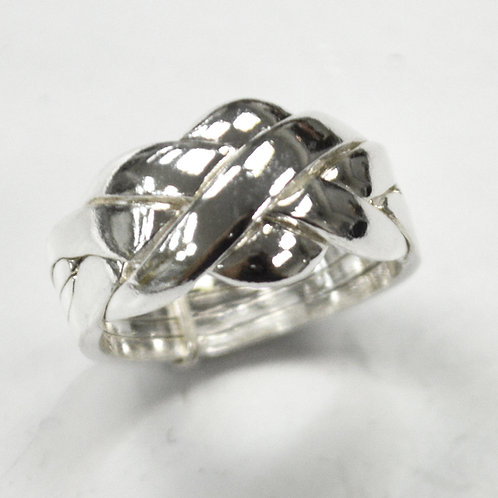 4 Band Puzzle Ring Sterling Silver 511031