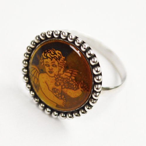 Angel Mood Ring Sterling Silver 513038