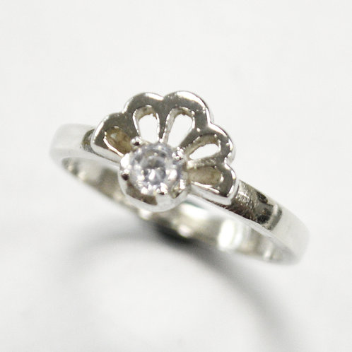CZ Stone Ring Sterling Silver 512076