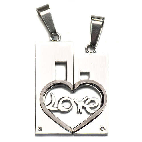 LOVE Heart Pendant (25x34mm) 86-1226