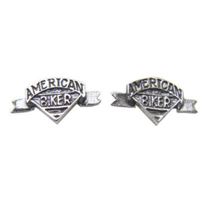 Biker Stud Earring Sterling Silver 531026