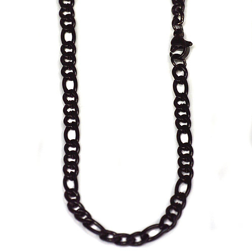 7m Black Figaro Chain
