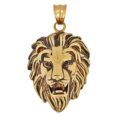 Lion Head Gold Plated Pendant 86-685G