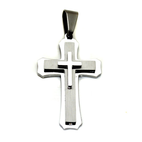 Layered Cross Pendants 86-1157S