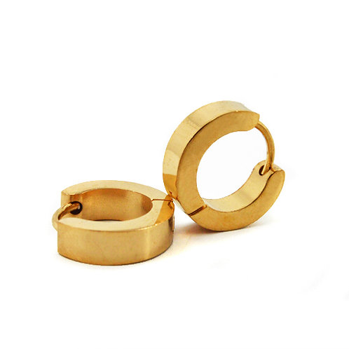 GOLD HUGGIE EARRINGS 83-518G