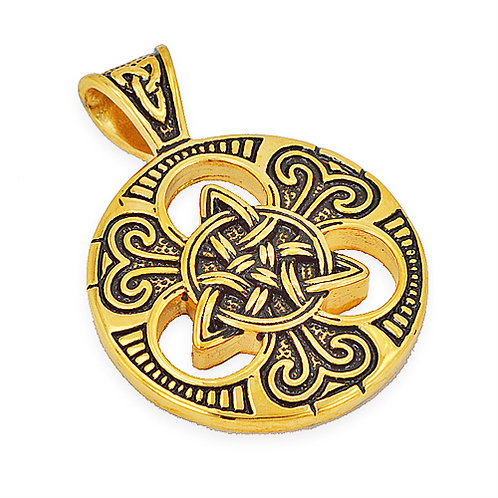 TRIQUETRA GOLD PLATED Pendant (37mm)
