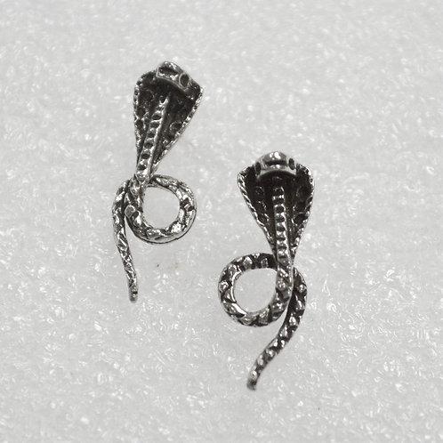 Cobra Snake Stud Earring