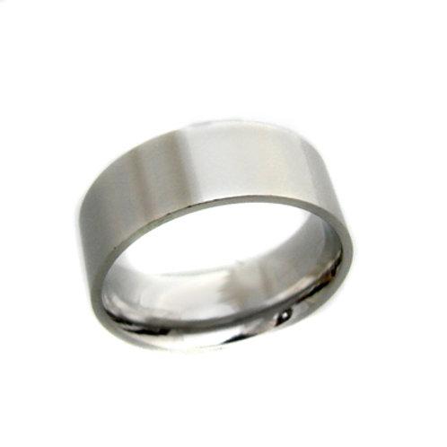 Flat Plain Band Ring (8mm) 81-304-8