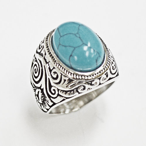 Turquoise Stone Ring (22mm) 81-1207S-TQ