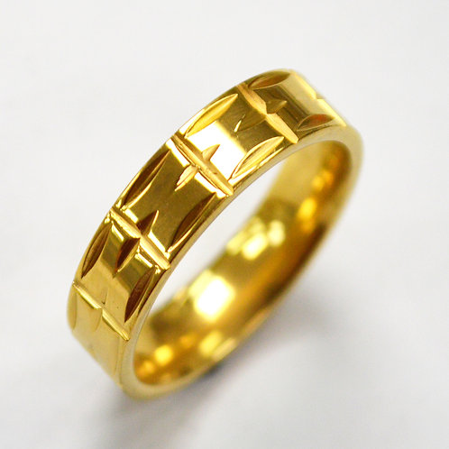 Gold IP Plated RING 81-1346