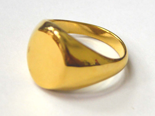 Oval Shape Signet Gold Plated Ring 81-1482G