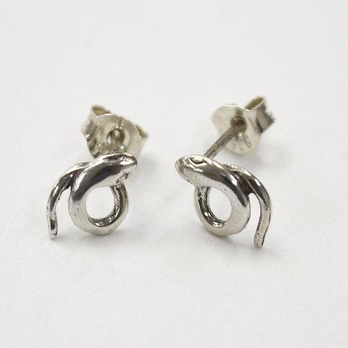 Snake Stud Sterling Silver Earring 535265