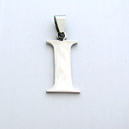 I Initial Pendant Stainless Steel (18x22mm)