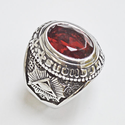 RED STONE RING (24mm) 81-1219-Red