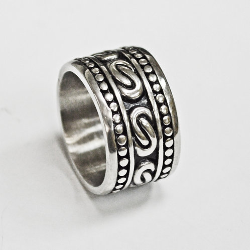 Wide Band Stainless Steel Ring (14mm) 81-1282