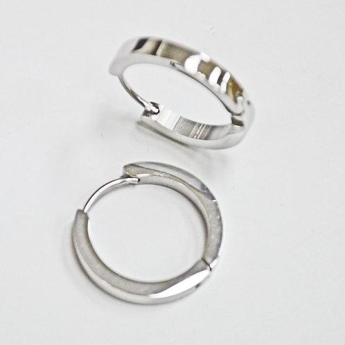 Stainless Steel Huggies Earrings 83-723S