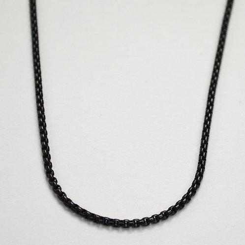 2m Black Sq ROLO Chain