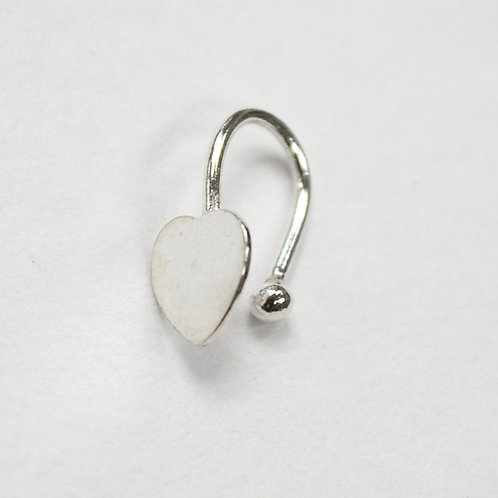 Heart Nose Stud Sterling Silver (5 pcs in a bag)