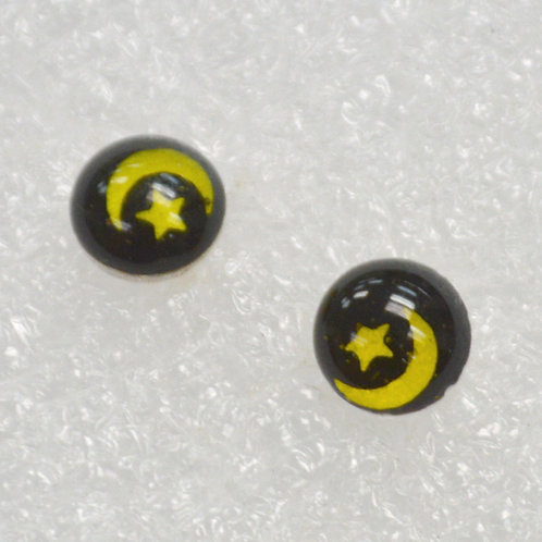 Moon & Star Stud Earring