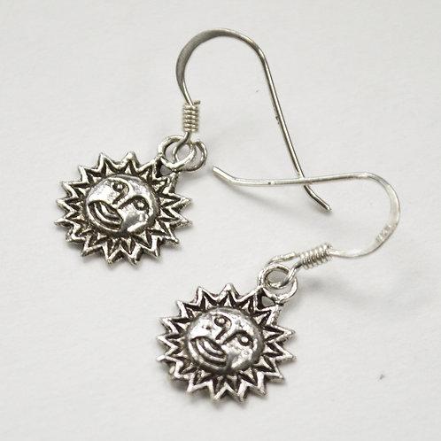 Sun Sterling Silver Earrings 535261