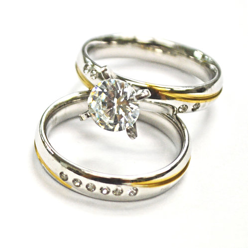 WEDDING SET RING (4x7mm) 81-681