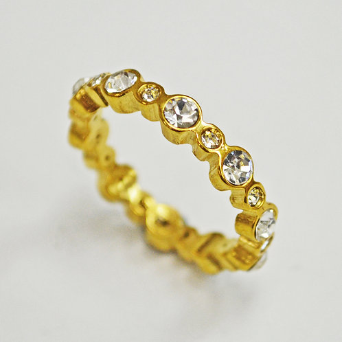CZ  Gold IP Plated RING (4mm) 81-1296G