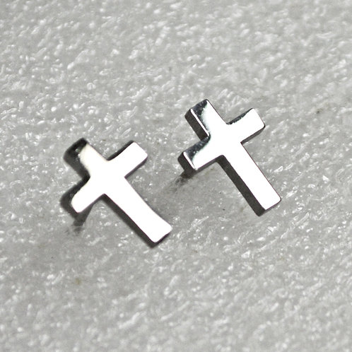 Plain Cross Stud Earrings 5 prs 83-762S