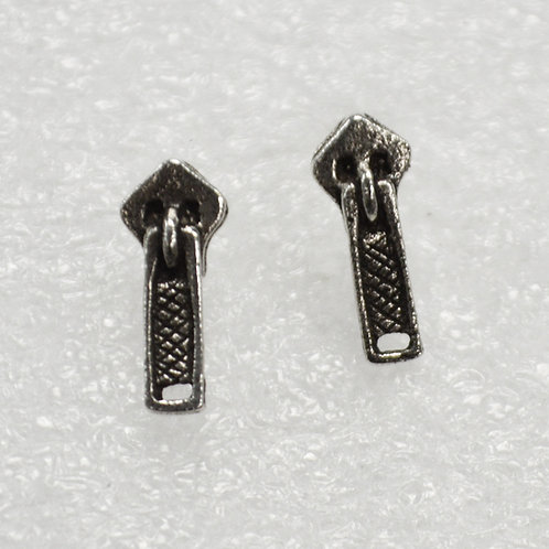 Zipper Stud Earring Sterling Silver 535219