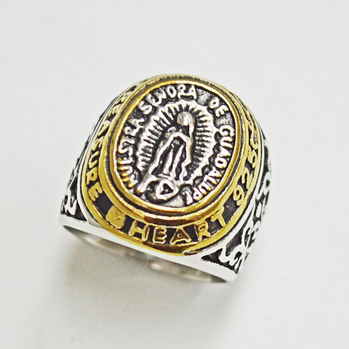 SN DE GUADALUPE 2 TONE GOLD RING (22mm) 81-1261